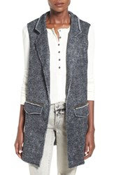 Junior Women's Mimi Chica Herringbone Vest Heather Grey