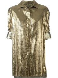 Alexandre Vauthier Metallic Short Sleeves Shirt