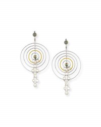 Coomi Concentric Labradorite Drop Earrings With Diamonds