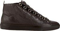Balenciaga Arena High Top Sneakers Brown
