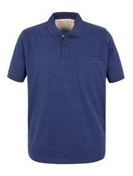 Racing Green Francis Jacquard Spot Polo Shirt Blue