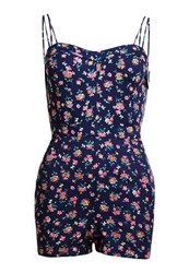 Superdry Holiday Print Playsuit Blue
