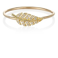 Jennifer Meyer Women's Diamond And Gold Leaf Ring No Color