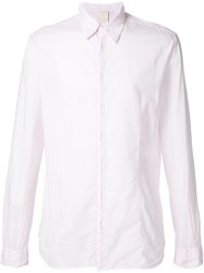 Forme D'expression Button Up Shirt Pink And Purple