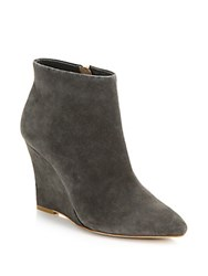 Joie Jalena Suede Wedge Booties Grey