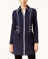 Inc International Concepts Faux Leather Trim Peacoat Only At Macy's Deep Twilight