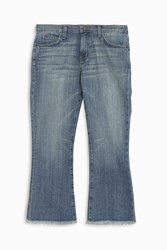 Current Elliott Cropped Flip Flop Jeans Blue