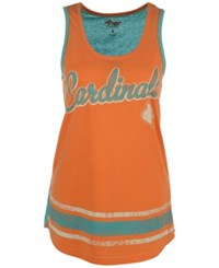 G3 Sports Women's Louisville Cardinals Wild Card Rio Tank Top Orange Lightblue
