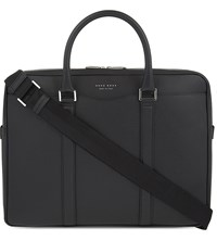 Hugo Boss Signature Leather Briefcase Black