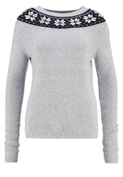 Anna Field Jumper Grey Melange Mottled Grey