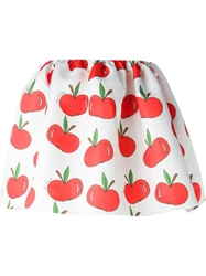 Au Jour Le Jour Apple Print Volume Skirt