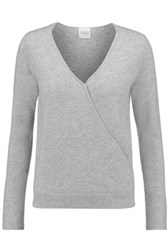 Madeleine Thompson Denton Wrap Effect Cashmere Sweater Gray
