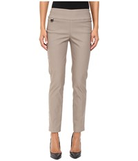 Lisette L Montreal Solid Magical Lycra Ankle Pants Mushroom Women's Casual Pants Gray