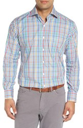 Peter Millar Men's 'National Pinwheel' Regular Fit Check Sport Shirt