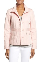Women's Nordstrom Collection Belt Detail Fitted Cotton Jacket
