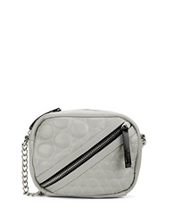 Gx By Gwen Stefani Ilka Quilted Faux Leather Crossbody Bag Grey