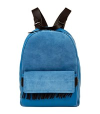 3.1 Phillip Lim Bianca Suede And Leather Backpack Female Adriatic Blue