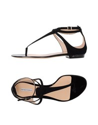 Emporio Armani Footwear Thong Sandals Women Black
