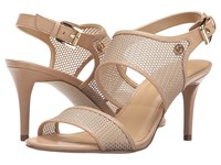 Michael Michael Kors Leilah Sandal Nude Mesh Vachetta Women's Dress Sandals Gold