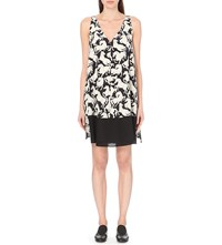 Stella Mccartney Horse Print Silk Dress Black