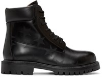 Valentino Black Star Ankle Boots