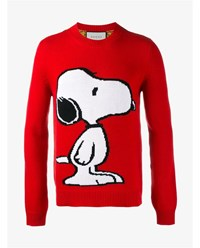 Gucci Snoopy Wool Jumper Red White Black