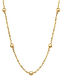 Giani Bernini 24K Gold Over Sterling Silver Necklace 20' Large Bead Singapore Chain Necklace