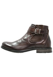 Sneaky Steve Milton Cowboy Biker Boots Brown Dark Brown