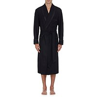 Barneys New York Men's Quilt Trim Robe Black Blue Black Blue