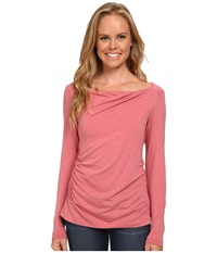 Royal Robbins Essential Tencel Cowl Neck Dixie Rose Women's Long Sleeve Pullover Pink