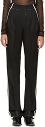 Paco Rabanne Black And White Pleated Trousers
