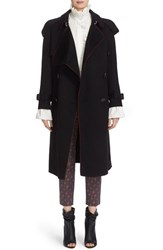 Burberry Women's Asymmetrical Drape Cashmere Trench