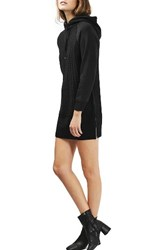 Topshop Women's Cable Knit Hoodie Dress