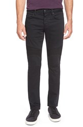Men's Vince Knee Panel Straight Leg Jeans Black