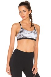 Solow Weathered Camo Sports Bra Black And White