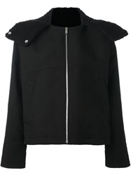 Paco Rabanne Hooded Cropped Jacket Black