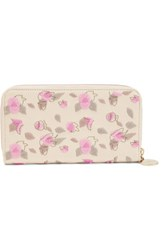 Red Valentino Redvalentino Embroidered Faux Leather Wallet Ivory
