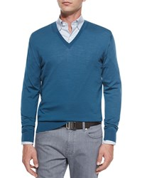 Ermenegildo Zegna High Performance Wool Sweater Blue