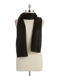 William Rast Coated Knit Scarf Black