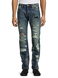 Cult Of Individuality Rebel Distressed Straight Leg Jeans Tobi