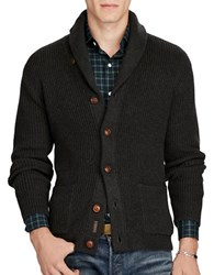 Polo Ralph Lauren Cotton Shawl Collar Cardigan Grey