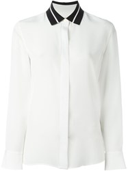Rag And Bone Contrast Collar Shirt White