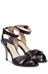 Paul Andrew Wisteria Python Leather Stilettos