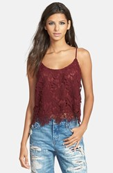Astr Women's Lace Overlay Cami