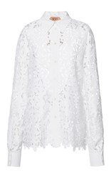 N 21 No. White Eyelet Lace Shirt
