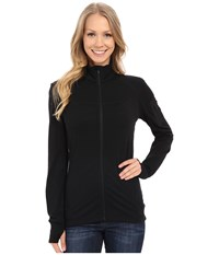 Icebreaker Terra Long Sleeve Zip Black Black Black Women's Clothing