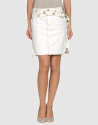 Zu Elements Knee Length Skirts Ivory