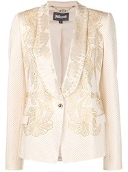 Just Cavalli Beaded Blazer Nude And Neutrals