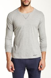 Bottoms Out Crew Neck Long Sleeve Tee Gray