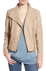 Women's Marc New York By Andrew Marc 'Felix' Stand Collar Leather Jacket Khaki